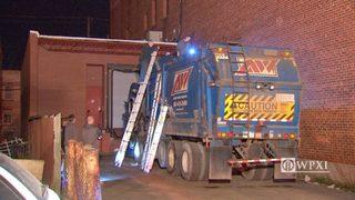 RAW VIDEO: Man stuck in dump truck
