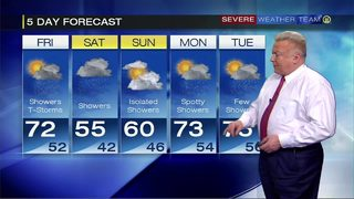 Thunderstorms and rain in the week ahead