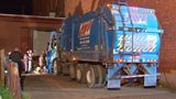 Man falls into garbage truck, loses prosthetic leg when dumpster picked up