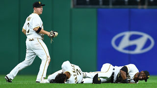 Outfield collision during Pirates game Friday night puts 2 on the injured list