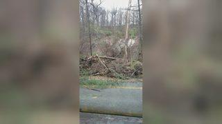 Mudslide closes road in Fox Chapel