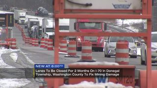 Lanes to be closed for 2 months on I-70 in Washington Co.