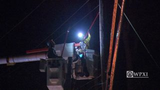 RAW VIDEO: Harts Run Rd power outage