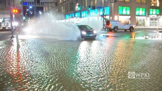 RAW VIDEO: Penn Avenue water main break