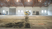 Construction work has started in the warehouse behind Brew Gentlemen in Braddock. (Pittsburgh Business Times)
