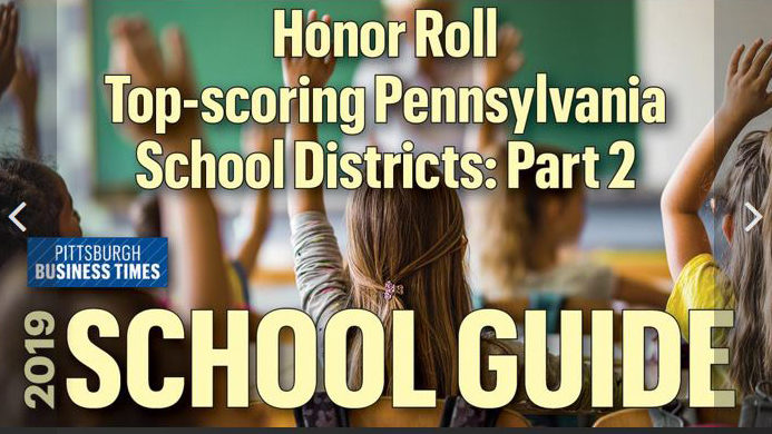 PITTSBURGH BUSINESS TIMES: 2019 School Guide: The highest-scoring