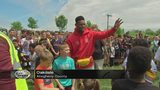 JuJu Smith-Schuster hosts first annual water balloon fight