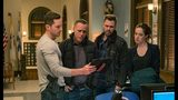 "CHICAGO P.D. -- ""What Could Have Been"" Episode 619 -- Pictured: (l-r) Jesse Lee Soffer as Jay Halstead, Jason Beghe as Hank Voight, Patrick John Flueger as Adam Ruzek, Marina Squerciati as Kim Burgess -- (Photo by: Matt Dinerstein)"