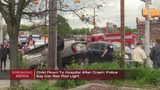 Two young girls hospitalized after SUV flips in New Castle crash