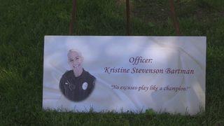 Bench at humane society honors police officer killed in 2016 Liberty Bridge crash