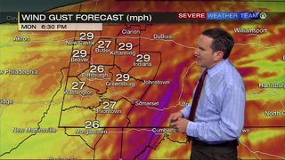 Gusty winds as cold front moves in (5/20/19)