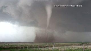 Severe weather outbreak affecting the Plains