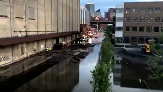 Massive water main break closes Strip District street for several blocks