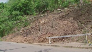 Hill slide beneath Homewood apartment building continues