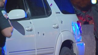 Shooting victim in bullet-ridden SUV flags down police