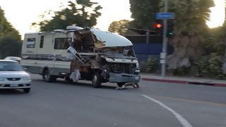 RAW VIDEO: Police chase woman in RV