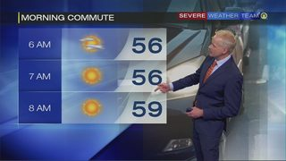 Cooler but sunny Friday