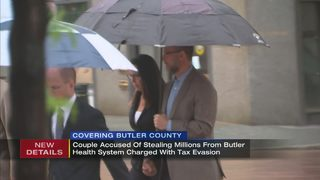 Couple accused of stealing $1M from Butler Health System charged with tax evasion
