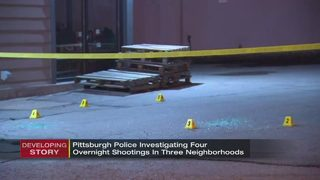 Pittsburgh police investigating four overnight shootings in 3 neighborhoods