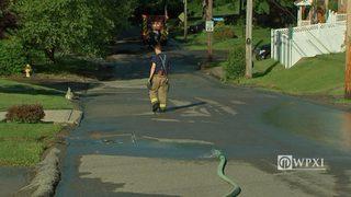 Water main break in Westwood