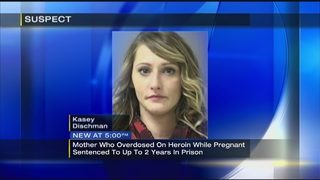 Woman who overdosed while pregnant sentenced to prison