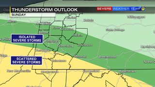Rain, storms possible through the weekend (5/25/19)