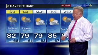Showers, storms possible for holiday weekend