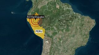 Magnitude-8 earthquake strikes Amazon jungle in Peru