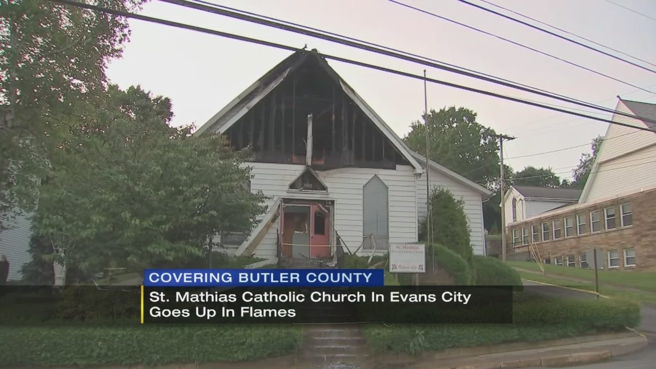 Fire causes extensive damage to Evans City church | WPXI