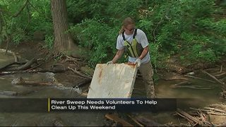 River Sweep needs volunteers to help clean up this weekend