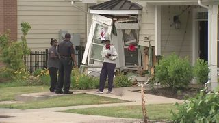 Car slams into house on Bentley Drive