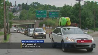 Parkway East closure causing traffic backups along detour