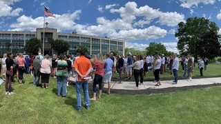Over 100 people attend prayer service for lightning strike victims