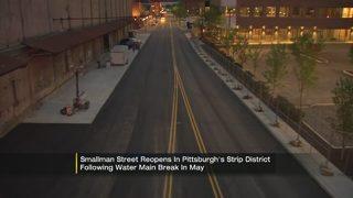 Smallman Street back open following nearly monthlong closure due to water main break