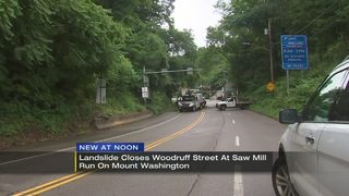 Landslide closes road in Mount Washington