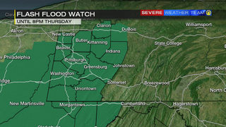 Flash Flood Watch extended to Thursday evening