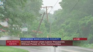 Downed power lines leave thousands without power in four communities