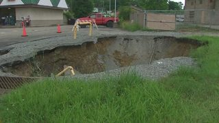 Massive sinkhole reopens in Rostraver
