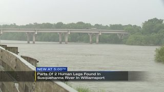 Parts of 2 human legs found in Susquehanna River