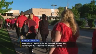Woodland Hills School Board votes to furlough 39 teachers, raise taxes