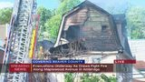 Flames reignite at house fire in Ambridge