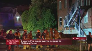 Crews battle fire at apartment building in McKees Rocks