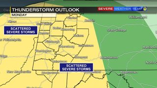 Showers, possible storms return after beautiful weekend