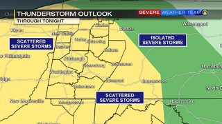 Showers, possible storms return Monday