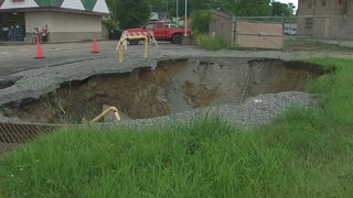 Sinkhole outside gas station on Route 51 continues to grow