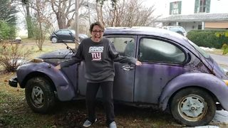 Woman reunited with her high school VW Beetle
