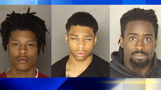 Three men facing charges in string of robberies.