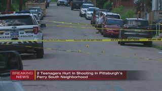 2 teens shot on Pittsburgh