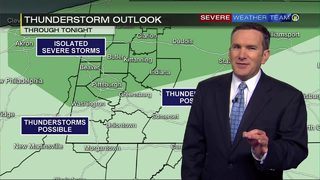 Chance for strong storms Wednesday afternoon, evening (6/26/19)