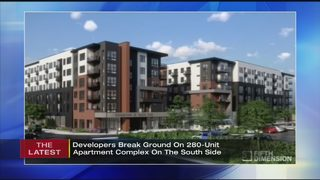 Construction begins on new apartment complex at SouthSide Works